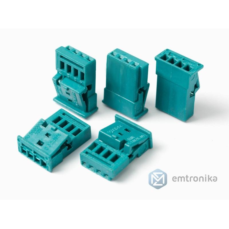 5x BMW CIC 61132359994 idrive plugs Universal socket housing uncoded 4 POL.